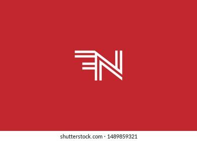 Initial based clean and minimal Logo. FN NF F N letter creative monochrome monogram icon symbol. Universal elegant luxury alphabet vector design