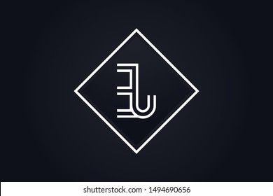 Initial based clean and minimal Logo. EJ JE E J letter creative monochrome monogram icon symbol. Universal elegant luxury alphabet vector design