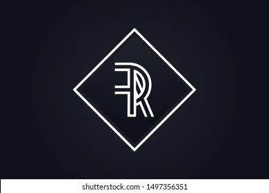Initial based clean and minimal Logo. FR RF F R letter creative monochrome monogram icon symbol. Universal elegant luxury alphabet vector design