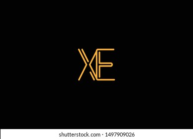 Initial based clean and minimal Logo. EX XE E X letter creative monochrome monogram icon symbol. Universal elegant luxury alphabet vector design