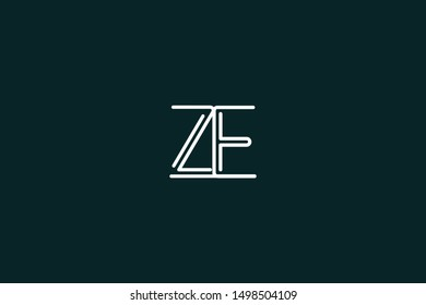 Initial based clean and minimal Logo. EZ ZE E Z letter creative fonts monogram icon symbol. Universal elegant luxury alphabet vector design