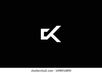 Initial based clean and minimal Logo. CK KC C K letter creative fonts monogram icon symbol. Universal elegant luxury alphabet vector design