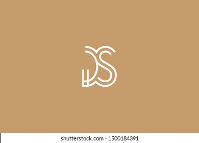 Initial based clean and minimal Logo. GS SG G S letter creative fonts monogram icon symbol. Universal elegant luxury alphabet vector design