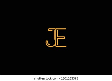 Initial based clean and minimal Logo. EJ JE E KJ letter creative fonts monogram icon symbol. Universal elegant luxury alphabet vector design