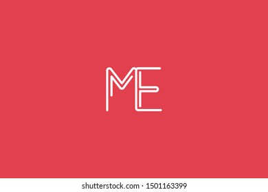 Initial based clean and minimal Logo. EM ME E M letter creative fonts monogram icon symbol. Universal elegant luxury alphabet vector design