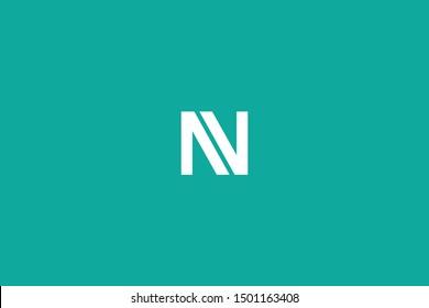 Initial based clean and minimal Logo. NV VN N V letter creative fonts monogram icon symbol. Universal elegant luxury alphabet vector design