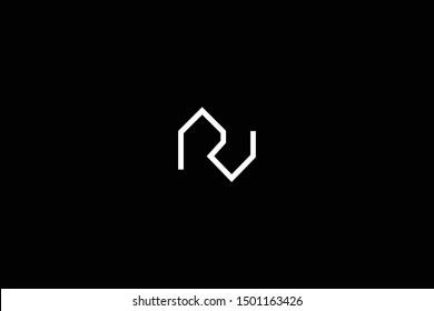 Initial based clean and minimal Logo. RV VR R V letter creative fonts monogram icon symbol. Universal elegant luxury alphabet vector design