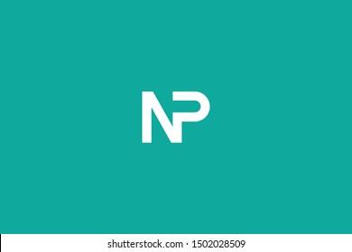 Initial based clean and minimal Logo. NP PN N P letter creative fonts monogram icon symbol. Universal elegant luxury alphabet vector design