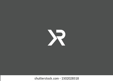 Initial based clean and minimal Logo. KR RK K R letter creative fonts monogram icon symbol. Universal elegant luxury alphabet vector design