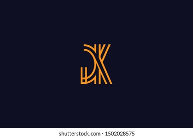 Initial based clean and minimal Logo. GK KG G K letter creative fonts monogram icon symbol. Universal elegant luxury alphabet vector design