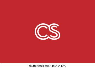 Initial based clean and minimal Logo. CS SC C S letter creative fonts monogram icon symbol. Universal elegant luxury alphabet vector design