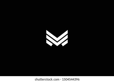 Initial based clean and minimal Logo. MM M letter creative fonts monogram icon symbol. Universal elegant luxury alphabet vector design