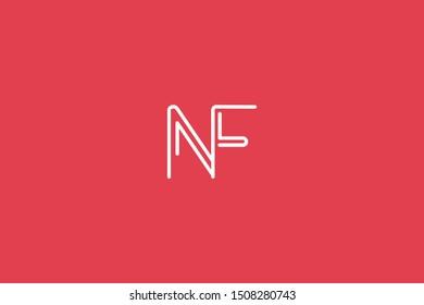 Initial based clean and minimal Logo. FN NF F N letter creative fonts monogram icon symbol. Universal elegant luxury alphabet vector design