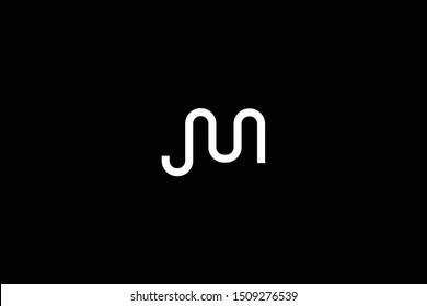 Initial based clean and minimal Logo. JM MJ J M letter creative fonts monogram icon symbol. Universal elegant luxury alphabet vector design