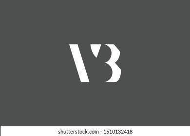Initial based clean and minimal Logo. BV VB B V letter creative fonts monogram icon symbol. Universal elegant luxury alphabet vector design