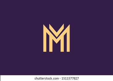 Initial based clean and minimal Logo. M MM letter creative fonts monogram icon symbol. Universal elegant luxury alphabet vector design