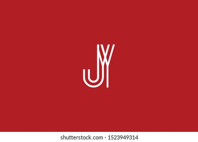Initial based clean and minimal Logo. JY YJ J Y letter creative fonts monogram icon symbol. Universal elegant luxury alphabet vector design