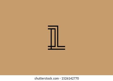 Initial based clean and minimal Logo. IL LI L letter creative fonts monogram icon symbol. Universal elegant luxury alphabet vector design