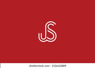 Initial based clean and minimal Logo. JS SJ J S letter creative fonts monogram icon symbol. Universal elegant luxury alphabet vector design