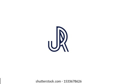 Initial based clean and minimal Logo. JR RJ J R letter creative fonts monogram icon symbol. Universal elegant luxury alphabet vector design