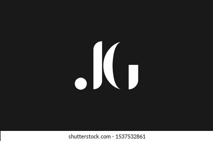 Initial based clean and minimal Logo. JG letter creative fonts monogram icon symbol. Universal elegant luxury alphabet vector design