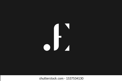 Initial based clean and minimal Logo. JE letter creative fonts monogram icon symbol. Universal elegant luxury alphabet vector design