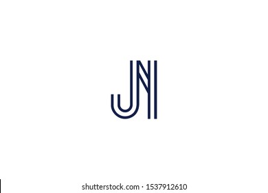 Initial based clean and minimal Logo. JN NJ J N letter creative fonts monogram icon symbol. Universal elegant luxury alphabet vector design