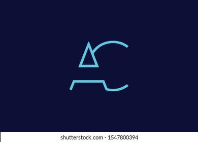 Initial based clean and minimal Logo. AC CA A C letter creative fonts monogram icon symbol. Universal elegant luxury alphabet vector design