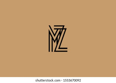 Initial based clean and minimal Logo. MZ ZM M Z letter creative fonts monogram icon symbol. Universal elegant luxury alphabet vector design