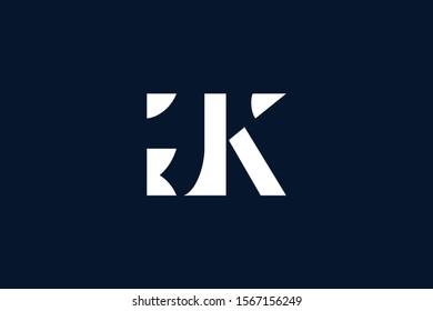 Initial based clean and minimal Logo. GK KG G K letter creative fonts monogram icon symbol. Universal elegant luxury alphabet vector design
