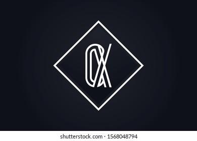Initial based clean and minimal Logo. OX XO O X letter creative fonts monogram icon symbol. Universal elegant luxury alphabet vector design