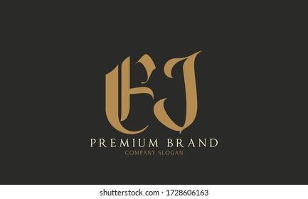 Initial based clean and minimal Logo. EJ JE E KJ letter creative fonts monogram icon symbol. Universal elegant luxury alphabet vector design