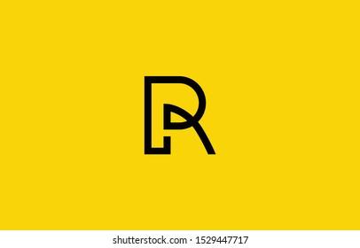 Initial based clean and minimal R Logo. RP PR P letter creative fonts monogram icon symbol. Universal elegant luxury alphabet vector design