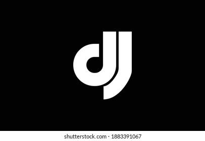 Initial based DJ, JD,  logo template. Unique monogram alphabet letters design and vector.
