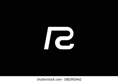 Initial based RC, CR, PC, CP,  logo template. Unique monogram alphabet letters design and vector.