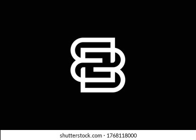 Initial BB BZ ZB modern monogram and elegant logo design, Professional Letters Vector Icon Logo on black background.