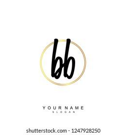 Initial BB handwriting logo vector