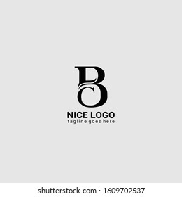 Initial BC letter mark logo Inspiration Template