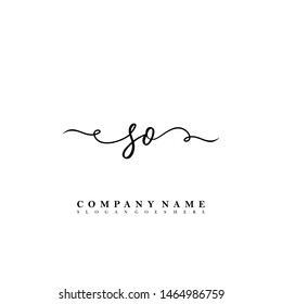 SO Initial beauty floral logo template