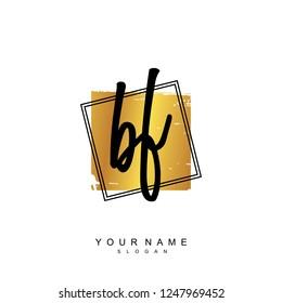 Initial BF handwriting logo vector
