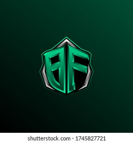 Initial BF logo design, Initial BF logo design with Circle style, Logo for game, esport, community or business.