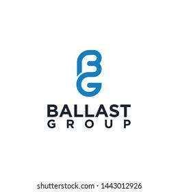 Initial BG logo design template
