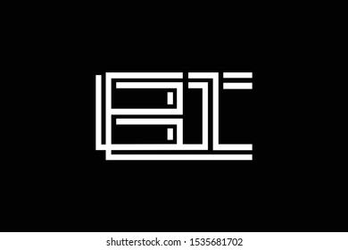 Initial BI IB modern monogram and elegant logo design, Professional Letters Vector Icon Logo on black background.