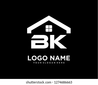 Initial BK home logo vector.