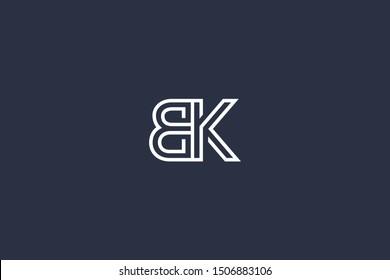 Initial BK KB Letter Logo Design Vector Template. Monogram and Creative Alphabet B K Letters icon Illustration.