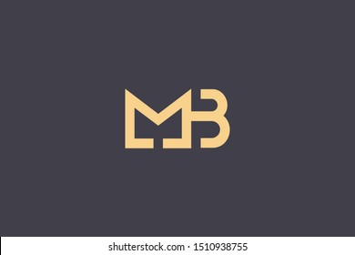 Initial BM MB Letter Logo Design Vector Template. Monogram and Creative Alphabet B M Letters icon Illustration.