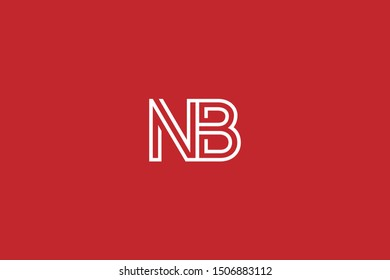 Initial BN NB Letter Logo Design Vector Template. Monogram and Creative Alphabet B N Letters icon Illustration.