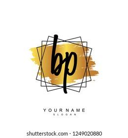Initial BP handwriting logo vector