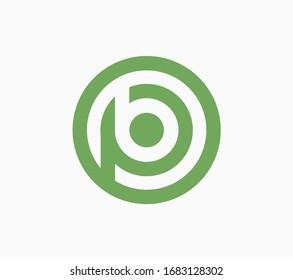 Initial BP or PB crossed letter vector logo template