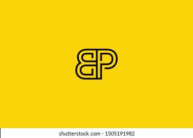 Initial BP PB Letter Logo Design Vector Template. Monogram and Creative Alphabet B P Letters icon Illustration.